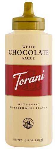 Torani White Chocolate Sauce, 16.5-Ounce Bottles (Pack of 6)