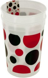 Little Ladybug Polka Dot Plastic Cups Set (Sold by 1 pack of 24 items) PROD-ID : 1943555