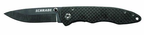 Schrade Sch401 Ceramic/Carbon Fiber Clip Folder Knife