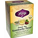 Yogi Teas / Golden Temple Tea Co Green Tea Kombucha Decaf, Kombucha Decaf 16 Bags