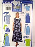 img - for Butterick UNLIMITED FASHION OPTIONS Pattern #5058 SIZE: 22W-24W-26W ***WOMEN'/WOMEN'S PETITE DRESS, TOP, TUNIC, JUMPER, SHORTS & PANTS*** book / textbook / text book