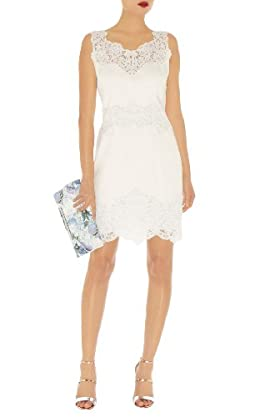 Cotton Lace Panel Dress
