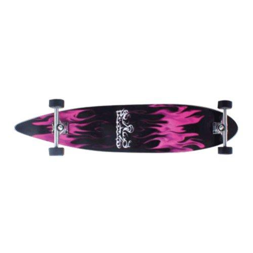 Krown Purple Flame Complete Longboard Skateboard
