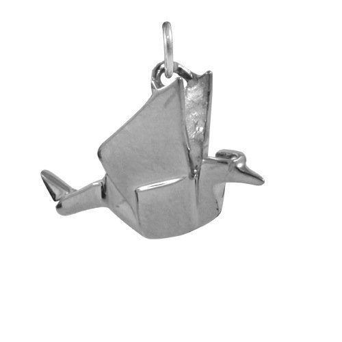thecharmworks sterling silber origami kranich