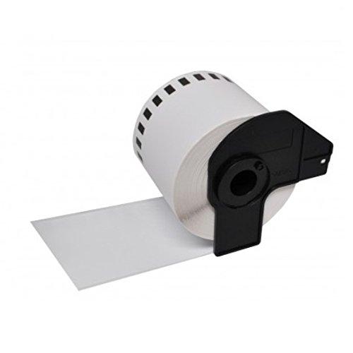 1 x P-Touch DK-11202 Rouleau Étiquettes d'expédition (300 étiquettes par rouleau) Noir/Blanc