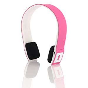 Sonixx X-Sport Pink Sportsband Wireless Bluetooth Headphones / Headset With Microphone and Remote - 3 YEAR WARRANTY