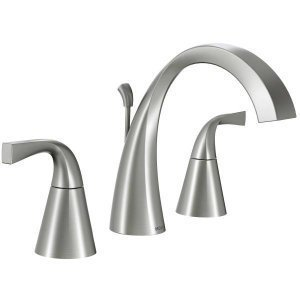 Moen 84661SRN Universal 2 Handle Bathroom Faucet, Spot Resist Brushed Nickel