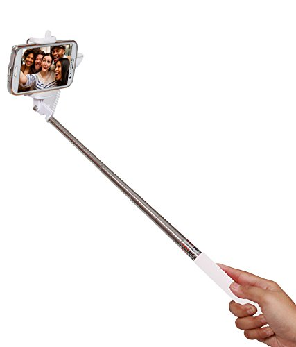 45 off on selfie stick monopod with wired aux cable connectivity compatible for lenovo vibe k4. Black Bedroom Furniture Sets. Home Design Ideas