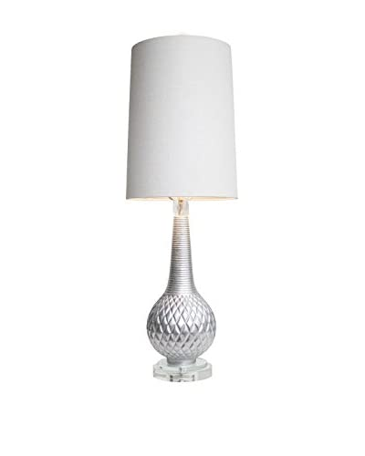 Couture Parker Table Lamp, Silver