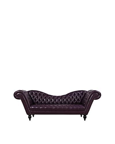 TOV Furniture Zahara Leather Sofa, Pewter
