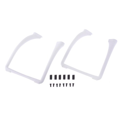 Neewer® Extended Widened White Landing Skid for DJI Phantom 2 Vision with Quadcopter Foot Pad - 1