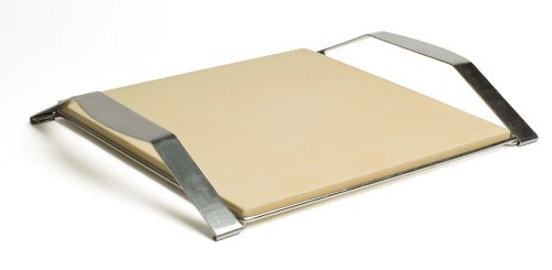 Pizzacraft PC0105 15-Inch Square Baking/Pizza Stone with Stainless Frame