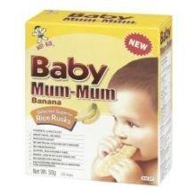 Hot-Kid Baby Mum-Mum Banana Flavor Rice Biscuit,  24-pieces, 1.76 oz,  (Pack of 6)