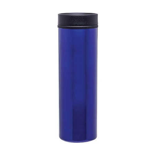 Stainless Steel Thermal Travel Tumbler - Double Wall - 16Oz. Capacity - Blue front-625477
