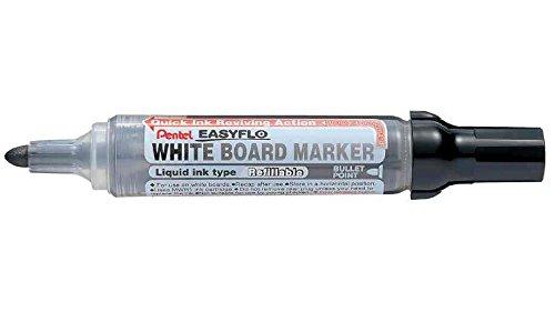 PENTEL Lot de 12 Marqueurs tableau blanc EASYFLO MW50M Pte ogive 2,5 mm Noir