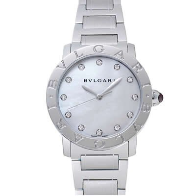 Bvlgari Bvlgari Ladies Diamond Dial Automatic Watch - Bbl37wss/12