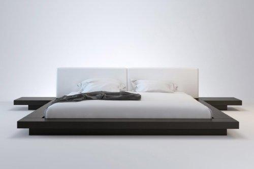 How Do I Worth Bed California King/Wenge & White Leather