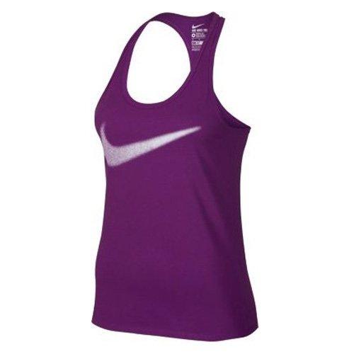 Nike DRI FIT CTN SWOOSH Canotta da donna, colore viola/Nero, L, 778696-554