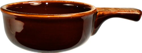 ITI-OSC-15-H Onion Soup Crock with Handle, 12-Ounce, 24-Piece, Caramel and Beige