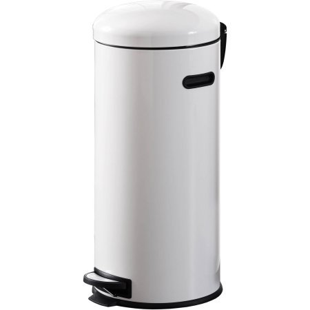 Durable Carbon Steel Better Homes and Gardens 30L Retro Trash Can, White (Trash Can Retro compare prices)