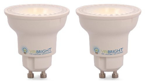 Viribright 4.5W Par16 Gu10 Led Light Bulb, Brightest 35W Par16 Halogen Gu10 Base Replacement, Cool White (4000K), Dimmable - 2 Pack