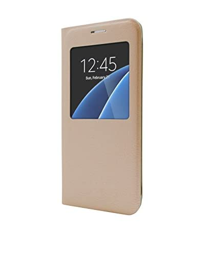 Unotec Funda Flip-S Samsung S7 Dorado