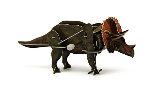 3D Dinosaur Wind Up Walking Puzzle - Triceratops