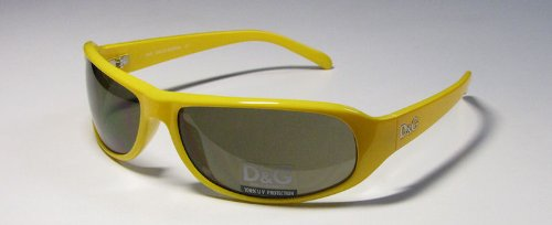Dolce & Gabbana Sunglasses 8017 Yellow Frame D & G with Case & Cleaning Cloth