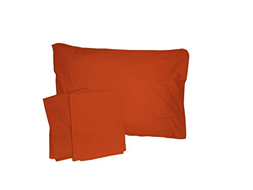 Baby Doll Solid Crib/ Toddler Bed Sheet Set, Orange