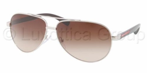 prada Prada (Linea Rossa) PS51NS Sunglasses-1BC/6S1 Silver (Brown Gradient Lens)-63mm