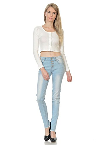 Sweet Look Premium Edition Women´s Jeans - Style N1234B - Light Blue - Size 07 (Light Blue Strech Jeans compare prices)