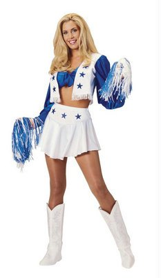 Sexy Dallas Cowboys Cheerleader Costume Adult Small 6-8