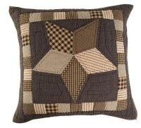 Farmhouse Star Quilted Euro Sham In Patchwork Star Pattern front-315024