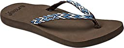 Reef Women\'s Reef Ginger Drift Flip Flop, Blue/Multi, 9 M US