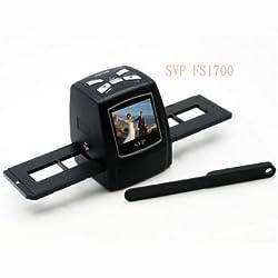 SVP FS1700 Digital Film Scanner w/ 2.4 Inches Build-in LCD-Black