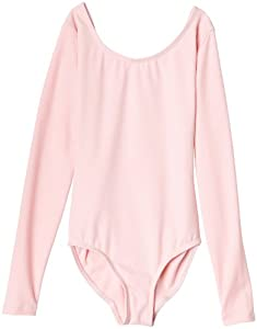 Capezio Big Girls' Team Basic Long Sleeve Leotard, Pink, Large (12-14)