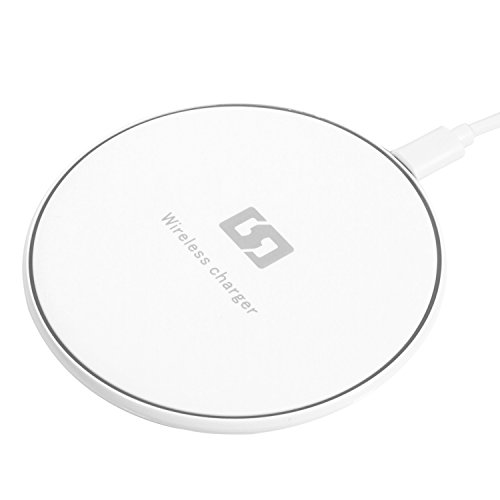 Wireless Charger, Cshidworld Ultra Slim Sleep-Friendly Portable Qi Wireless Charging Pad For Samsung Galaxy S7/S7 Edge,S6/S6 Edge/S6 Active,Note 5,Nexus 7/6/5/4 (White) (Moto G Inductive Charging compare prices)