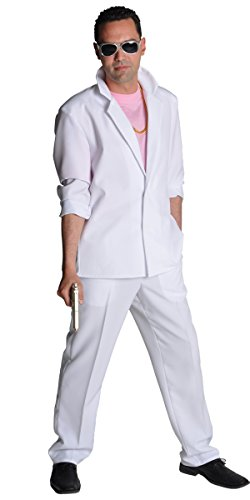 80's White Miami Vice Sonny Crockett Tubbs Suit for Men