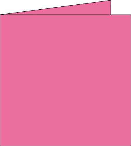 Pollen Paquet de 25 cartes simples Pollen 135x135mm Rose Hortensia 210g