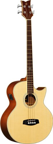 Ortega D1-4Le Medium Scale Left Hand Acoustic Bass Guitar With Fishman Pickup...