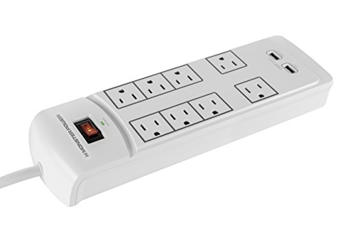 Monster Power 8 Outlet Surge Protector With 2 Usb Port
