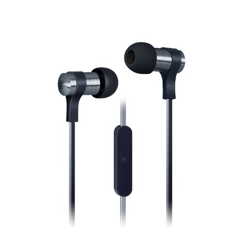 Urban Beatz 2-Tone Flat Cable Earbuds With Mic - Black (Ub-Em400-101)