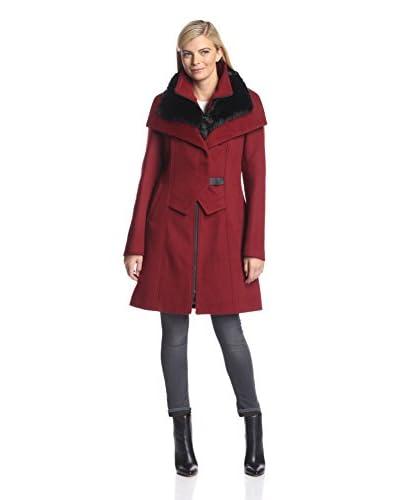 Soia & Kyo Women's Faux Fur Collar Coat