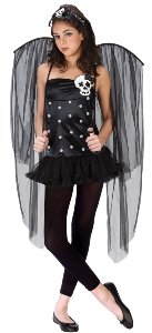Skull Fairy Teen Costume Size 0-9 Junior