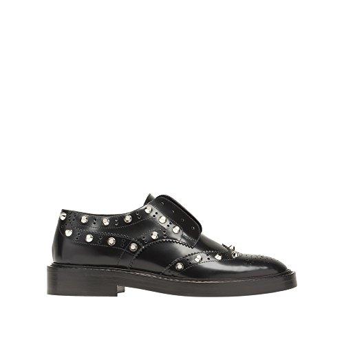 balenciaga-womens-433205wavl0001-black-leather-loafers