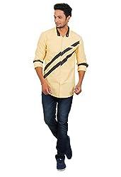 Rapphael Men's Full sleeve Casual Shirt -YELLOW