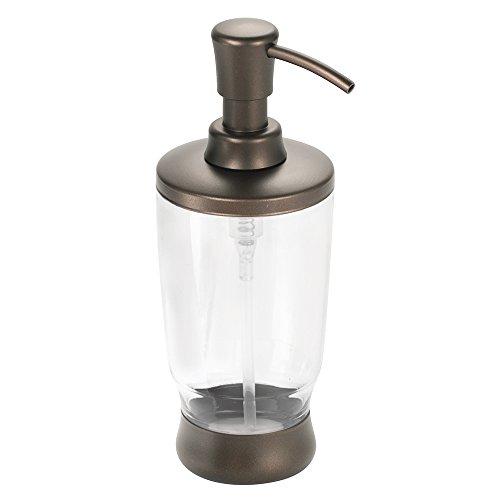 Interdesign Aris Soap Lotion Dispenser For Kitchen Or Bathroom Countertops Clear Bronze