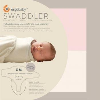 Ergo Sleep Tight Swaddler- Pink + Nautral, Small/Medium Image