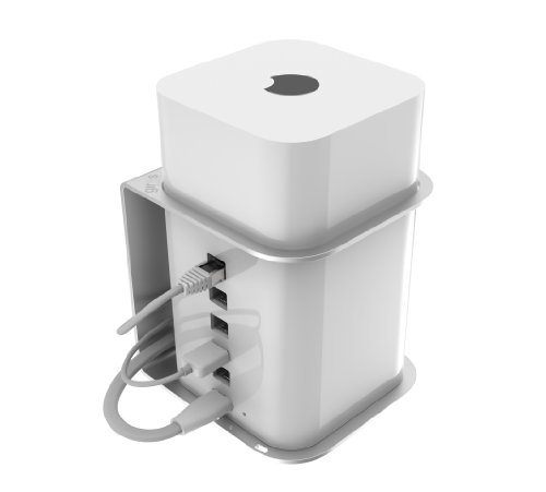 AirBase – Wall/Ceiling Mount for Apple AirPort Extreme & Time Capsule [Polycarbonate Security Cap NOT Included]