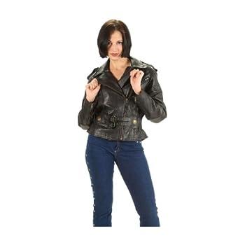 Asatr Womens Slim Faux Leather Zipper Motorcycle Biker Crop Jackets